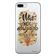 Capa Transparente Personalizada Para iPhone 7 Plus e iPhone 7 Pro Frases - TP193