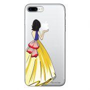 Capa Transparente Personalizada Para iPhone 7 Plus e iPhone 7 Pro Princesa Branca de Neve - TP203