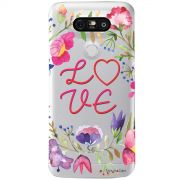 Capa Transparente Personalizada para LG G5/G5 SE  Love - TP156