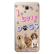 Capa Transparente Personalizada para Galaxy j7 Prime Eu Amo Meus Cachorros - TP69