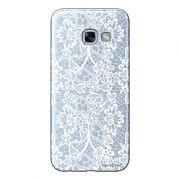 Capa Transparente Personalizada para Samsung Galaxy A5 2017 Renda Branca - TP283