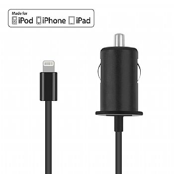 Carregador Veicular para Apple iPhone 5 5s 5c / iPad 4 / iPad Air / iPad Mini com Lightning Connector - Intelimix