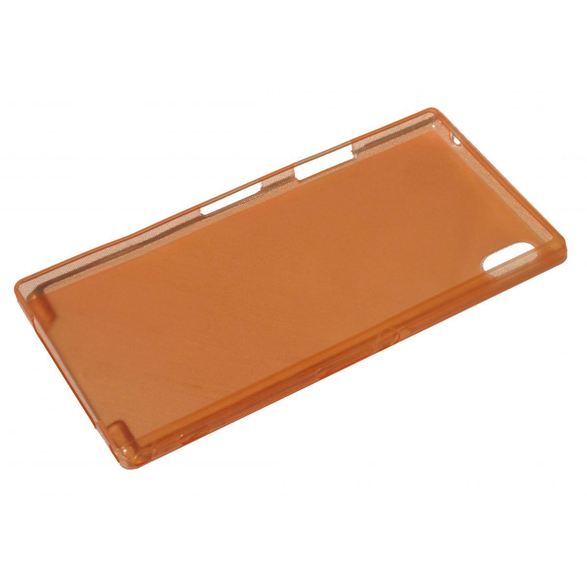Capa Ultra Slim para Sony Xperia Z1 C6903 C6902 L39h + Película Laranja