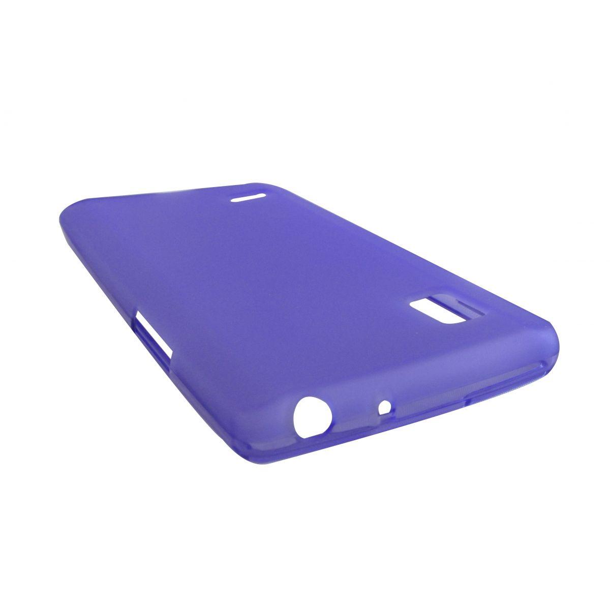 Capa de Tpu para LG Optimus L9 P760 + Película Roxa