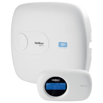 Central de alarme Intelbras Monitorada 10 zonas + 16  sem fio linha/teclado e PGM AMT 2010 - JS Soluções em Segurança