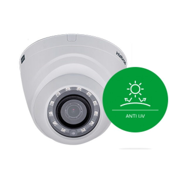 """Câmera Dome infra Flex Multi HDCVI, AHD,TVI e analógica Full HD menu OSD 1/2.7"""" 2 megapixels 2.8mm 110º  VHD 1220D G4 1080p - JS Soluções em Segurança"""