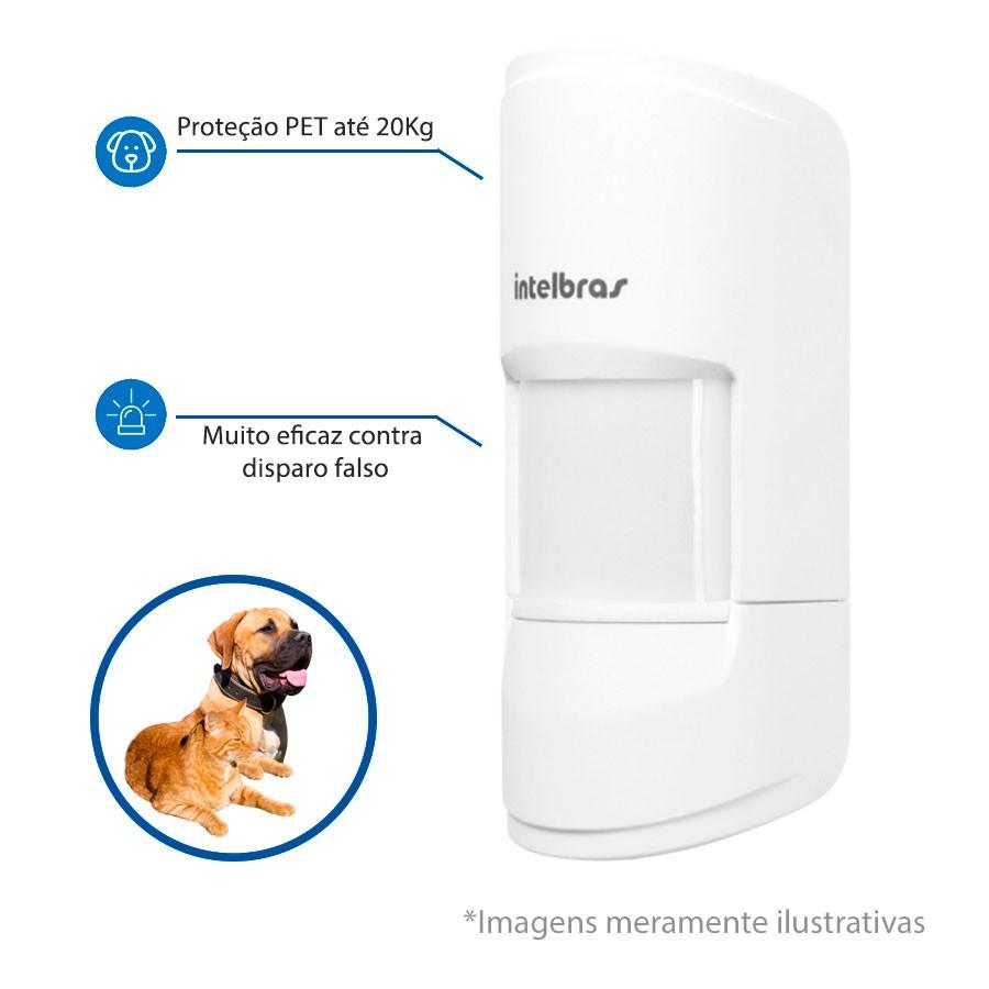 Sensor infravermelho sem fio Pet Immunity 20 Kg duplo canal 433,92 MHz + Bateria 3V. IVP 4101 PET SMART Intelbras - JS Soluções em Segurança