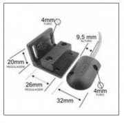 Mini Sensor Magnético de Porta de Aço e Portões - Stilus - JS Soluções em Segurança