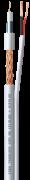 Bobina Cabo Coaxial Premium Híbrido HD 5mm Dupla Blindagem Flex 85% longa distância 300mts com alimentação - JS Soluções em Segurança