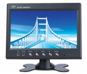 Monitor LCD Color 7 polegadas analogico 2 entradas video rca + fonte 12V 3A incluso - JS Soluções em Segurança