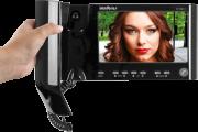 Video Porteiro Intelbras + interfone de ouvido - IV 7000 HS preto - JS Soluções em Segurança
