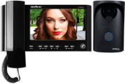 KIT Video Porteiro Intelbras + interfone de ouvido - IV 7000 HS preto - JS Soluções em Segurança
