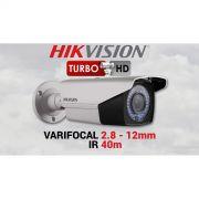 Câmera Bullet Profissional Turbo  HD 3.0 Varifocal 2.8mm - 12mm Hikvision DS-2CE16D1T-VFIR3  HD-TVI 1080p - JS Soluções em Segurança