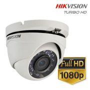 Câmera Dome infrared Turbo HD 3.0 Full HD 2 Megapixels 2.8mm 25mts DS-2CE56D0T-IRP Hikvision 1080p - JS Soluções em Segurança