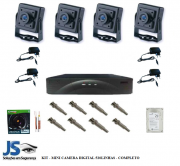KIT 4 CANAIS MICRO CAMERA DIGITAL  - COMPLETO + HD500GB