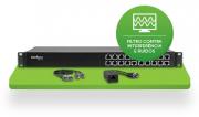 Kit Power balun  19/1U receptor e transmissor passivo 16 canais RJ45 Vídeo e Alimentação até 300mts  - JS Soluções em Segurança