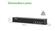 Kit Power balun 19/1U receptor e transmissor passivo 04 canais Video & Alimentação RJ45 até 300mts intelbras 720p - JS Soluções em Segurança