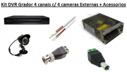 KIT DVR 4 CANAIS + 2 CAMERA INFRA VERMELHO CCD SONY 600LINHAS EXTERNA - JS Soluções em Segurança