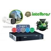 DVR Gravador Multi-HD 10 canais AHD, HDTVI, HDCVI, analógica e 2 IP Intelbras MHDX 1008 + saída bnc 5 em 1 - JS Soluções em Segurança