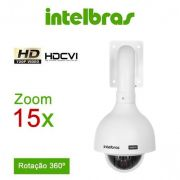 Câmera Speed Dome HDCVI 1 Megapixel HD 720p 15X Zoom óptico + 4x digital Intelbras VHD 3115 SD - JS Soluções em Segurança