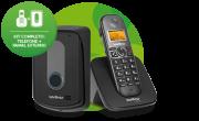 TIS 5010 Kit Porteiro e Base linha telefônica sem fio + ramal externo Intelbras  - JS Soluções em Segurança
