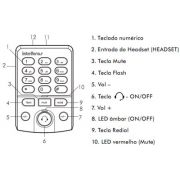 Telefone headset Intelbras HSB 50 - JS Soluções em Segurança