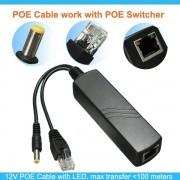 Adaptador PoE vídeo e alimentação UTP (Par) 100mts - JS Soluções em Segurança