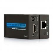 EXTENSOR HDMI 60 METROS VIA CABO DE REDE UTP RJ45 1080P - JS Soluções em Segurança