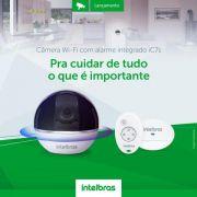 Câmera infra Wi-Fi 360° com sensor e sirene wifi WDR BLC acompanha movimento Full HD 1080p intelbras IC7 - JS Soluções em Segurança