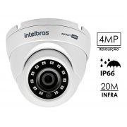 Câmera Dome infra vermelho 4 em 1 Multi-HD 1/3 2.8mm 105° intelbras VHD 3420 D 4 megapixels - JS Soluções em Segurança