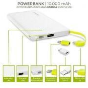 Carregador portátil para Smartphones 10000mAh 5V 2.1A - JS Soluções em Segurança