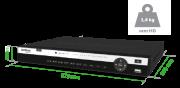 GRAVADOR DIGITAL DE VÍDEO 08 CANAIS + 4 CANAIS IP = 12 CANAIS MULTI-HD® MHDX 5108 INTELBRAS ULTRA HD 4X 4k  - JS Soluções em Segurança
