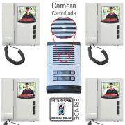 Kit Vídeo Porteiro eletrônico coletivo HDL Para 4 pontos com monitores - JS Soluções em Segurança