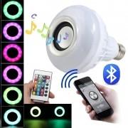 Lâmpada Led Music Bluetooth Rgb 12w com Controle Remoto Bivolt - JS Soluções em Segurança