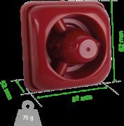 Sinalizador audiovisual convencional INTELBRAS SAV 420C - JS Soluções em Segurança