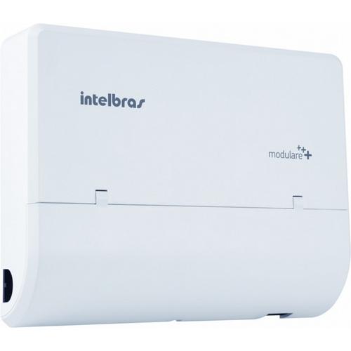 Microcentral PABX de telefonia fixa e sem fio 2 linhas 4 ramais Intelbras Modulare + - JS Soluções em Segurança
