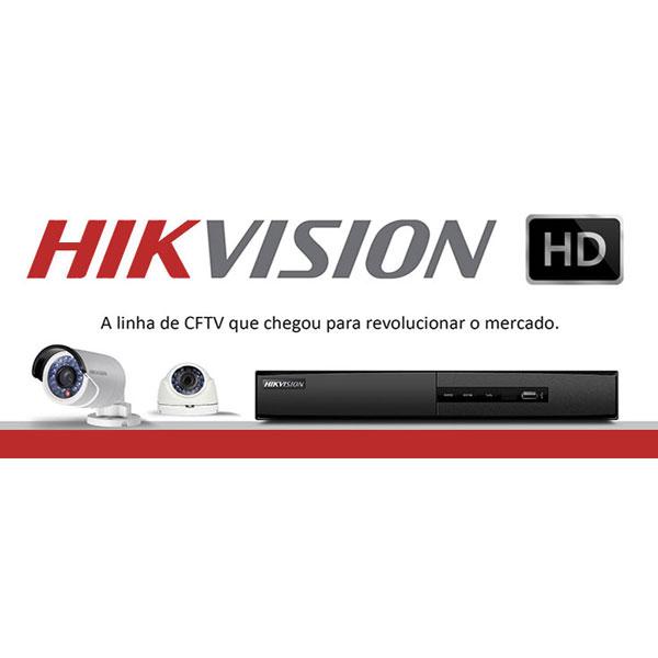 Câmera Dome Infra vermelho Turbo HDTVI 1/2.7 IP66 2.8mm Hikvision metal 720p  - JS Soluções em Segurança