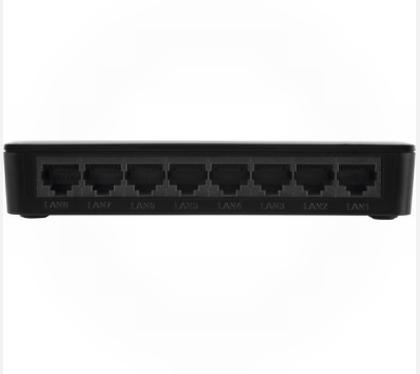 Switch 8 portas Fast Ethernet com VLAN Fixa SF 800 VLAN fixa - JS Soluções em Segurança