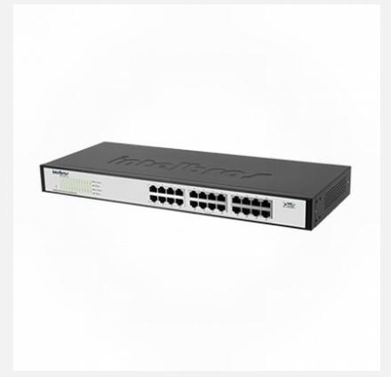 Switch 24 portas Fast Ethernet Intelbras SF 2400 QR+ - JS Soluções em Segurança