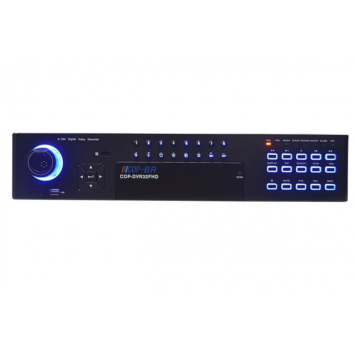 Gravador de Imagens 32 canais de video + 32 entradas de audio 960fps tempo real 960H - JS Soluções em Segurança