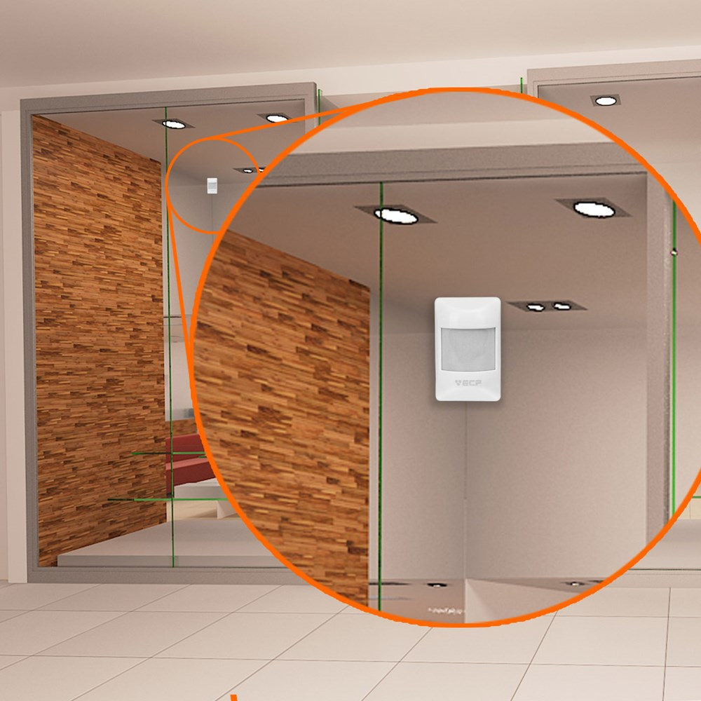 Sensor Infravermelho Passivo IVP Visory Comum com fio ECP - JS Soluções em Segurança
