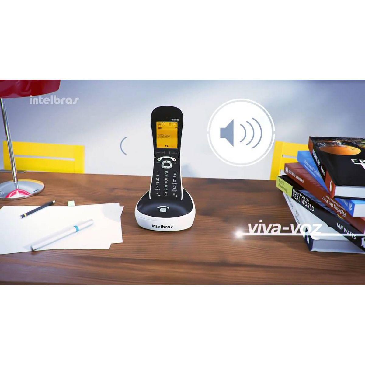 Telefone sem fio digital com ID Intelbras TS 8220 - JS Soluções em Segurança