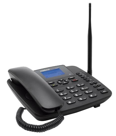 Telefone Celular Fixo Rural Intelbras 3G CF 6031 Preto - JS Soluções em Segurança