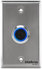 Acionador botoeira de abertura por sensor infravermelho - JS Soluções em Segurança