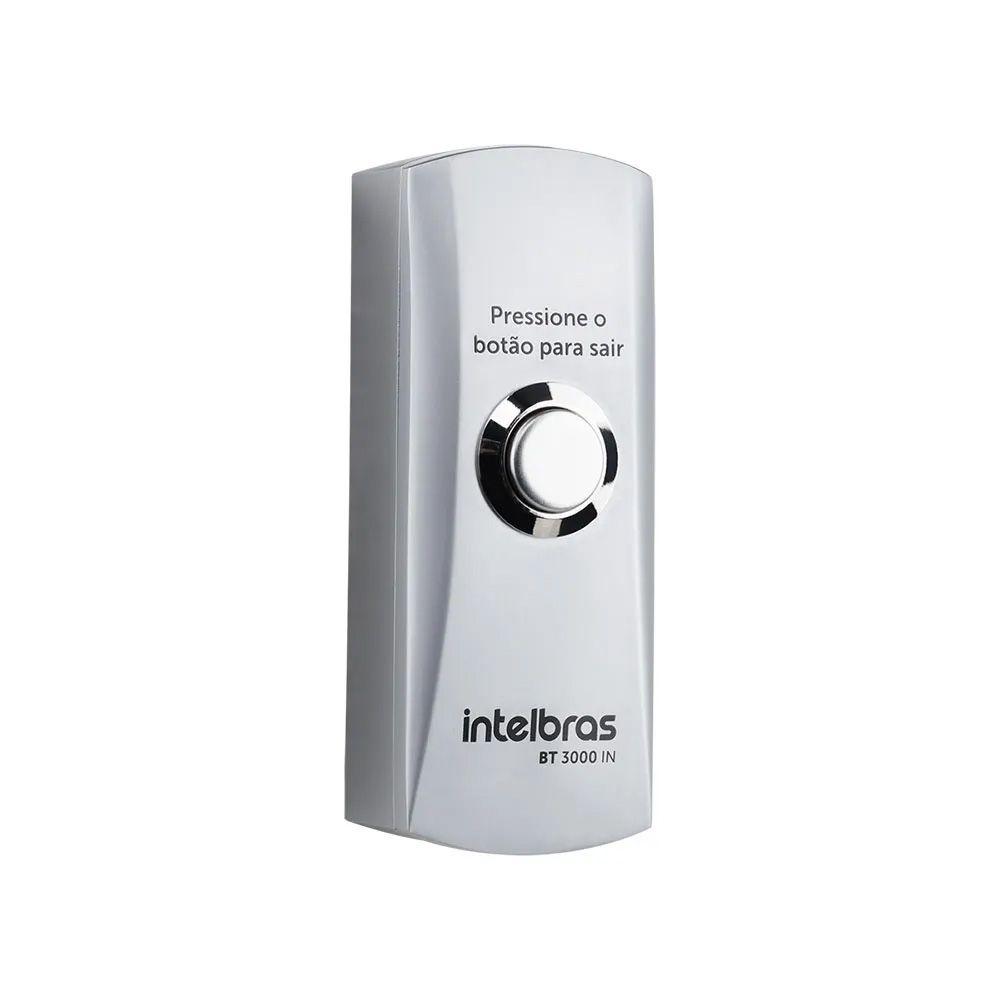 Botão de saida inox com caixa sobrepor intelbras BT 3000 IN  - JS Soluções em Segurança
