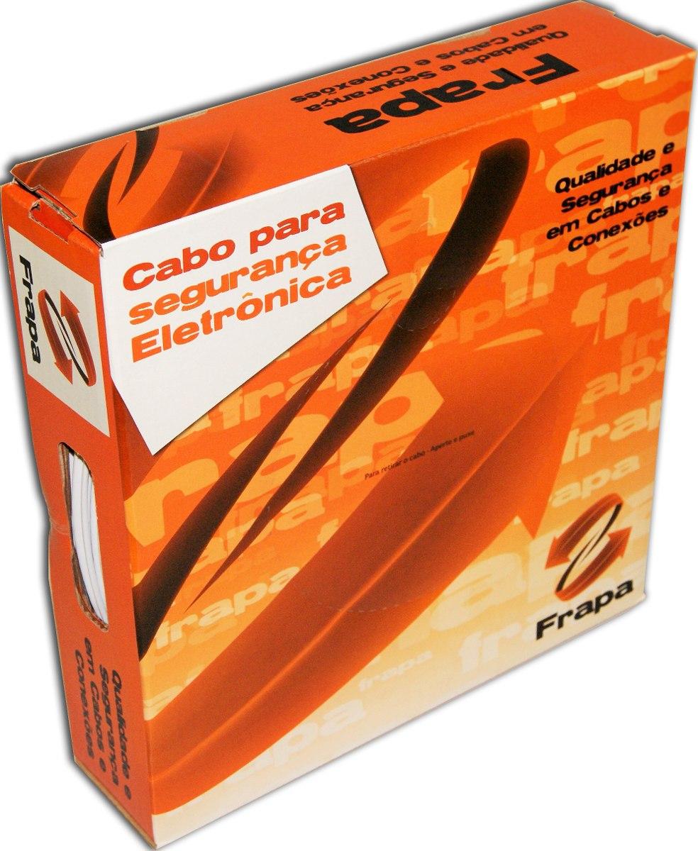 Cabo CFTV Coaxial 3mm 90% de malha Bipolar SLIN 2 X 26 AWG e Alimentação 100mts - JS Soluções em Segurança