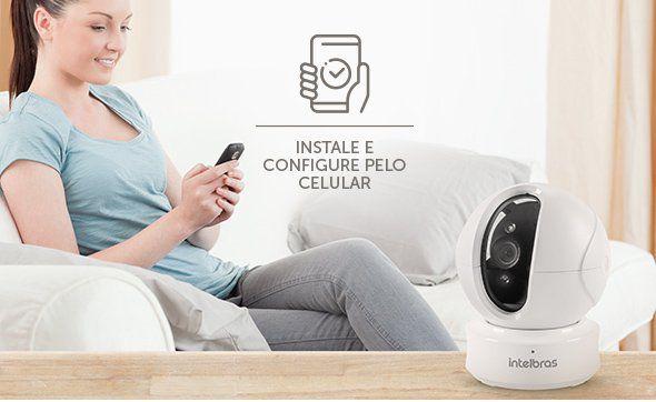 Câmera de Segurança Wi-Fi HD acompanhe o movimento e interação por voz intelbras 720p IC4  - JS Soluções em Segurança