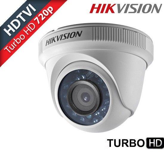 Câmera dome infra vermelho Turbo HD TVI 1.0 Megapixel 1/3 2.8mm 12 leds 20mts Hikvision 720p  - JS Soluções em Segurança