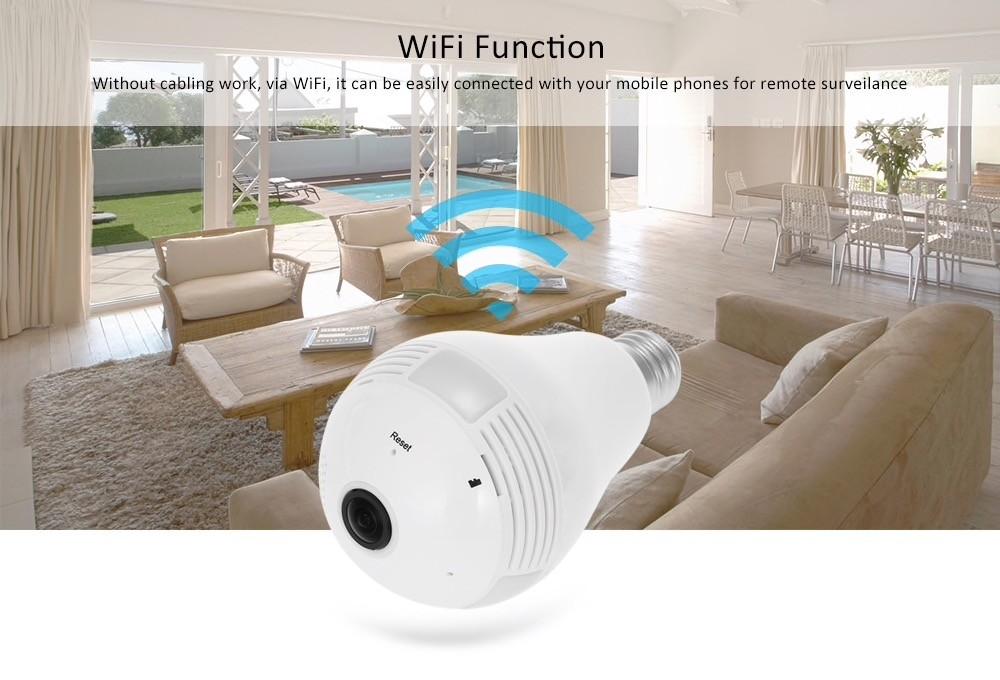 Câmera Panorâmica 360 Graus WiFi IP Fisheye com audio 1.3 Megapixels 960p - JS Soluções em Segurança