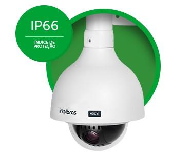 Câmera Speed dome Hibrido analógico & HDCVI 1 MEGAPIXEL ZOOM 20X + 4X Digital IP66 720p intelbras VHD 3120 SD - JS Soluções em Segurança